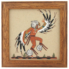 Eagle Dancer Sandpainting Box by Alta Yazzie