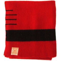Hudson's Bay 3.5 Point Red w/ Black Stripe Blanket