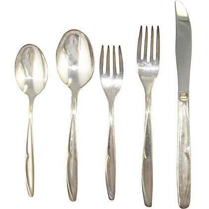 Concept Silverplate Flatware, Svc. for 8