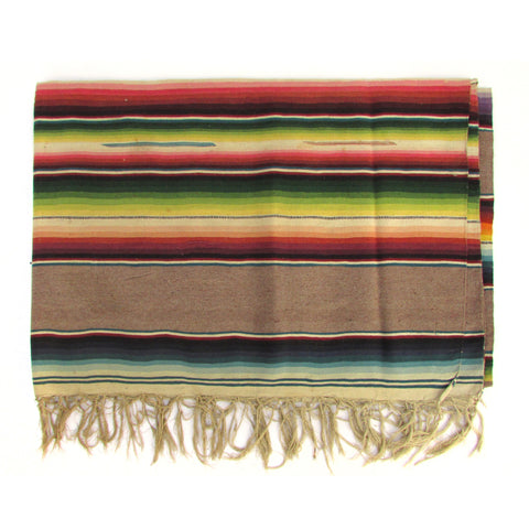 Saltillo Serape w/ Tan Bands