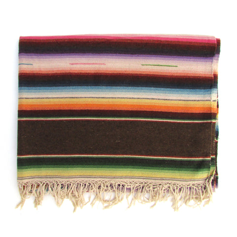 Very Soft Saltillo Serape w/ Chocolate Bands