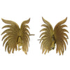 Large Brass Fighting Roosters