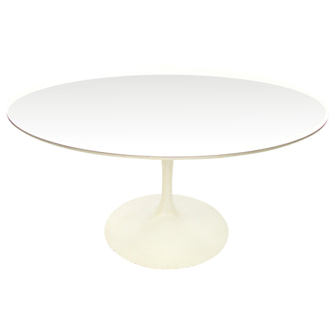 Early Saarinen for Knoll Round Tulip Table w/ White Laminate Top