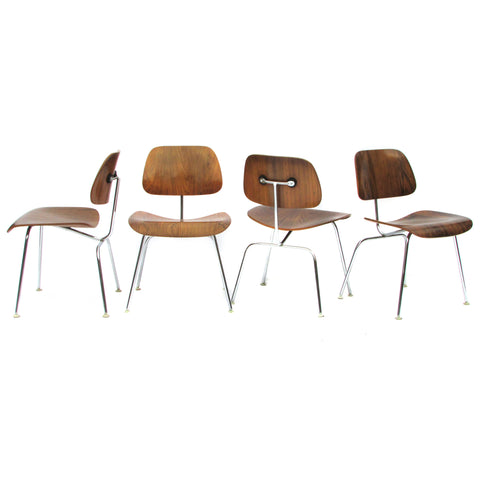 1960s Herman Miller Eames Rosewood DCM Chairs, 6 Available