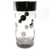 Silvered Polka-Dot Tumblers w/ Carrier & Ice Bucket
