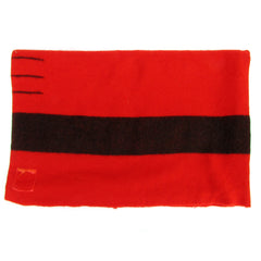 Antique Hudson Bay Red w/ Black Stripe 4-Point Blanket
