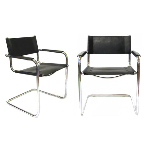 Pair of S3 Armchairs Designed by Mart Stam