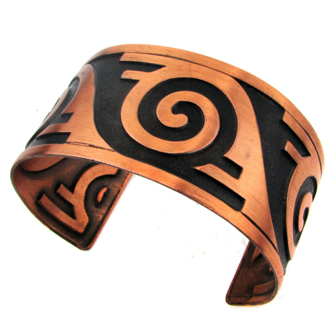 Wide Bell Trading Post Copper Cuff