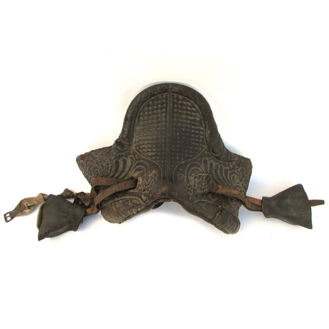 Antique Quilted Leather Italian Riding Saddle