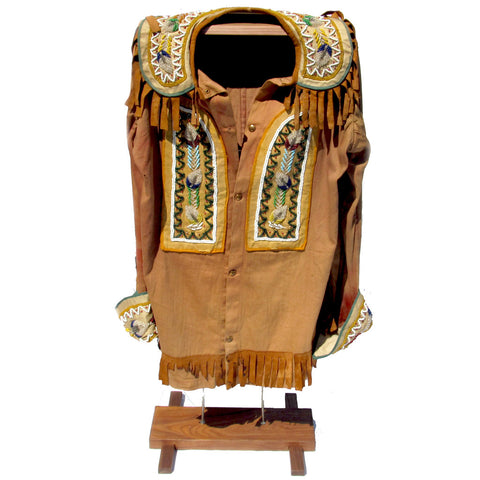 Authentic Wild West Show Beaded Shirt