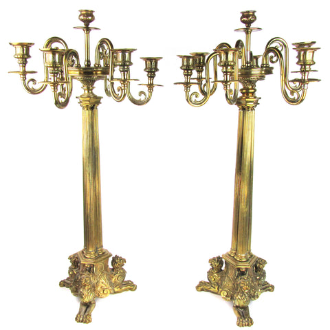 Pair of Large Large Louis XVI-Style Candelabras