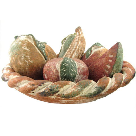 Earthenware Fruits in Large Bowl