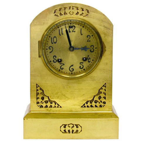 1905 Art Nouveau Brass Ansonia Mantel Clock