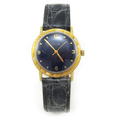 14k Gold 1960's Elgin Watch with Navy Dial