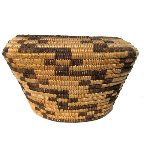 Pima Olla Basket w/ Linked Star Decoration