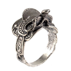 1940's Sterling Silver Saddle Ring