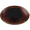 Antique Tray w/ Tooled & Painted Leather