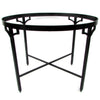 Chanel Paris Boutique Tole Tray Table w/ Iron Base