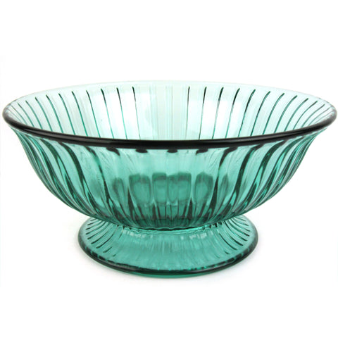 Fenton Fluted Glass Bowl w/ Foot