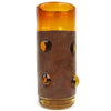 Artisan Made Amber Tumblers w/ Copper Covers, Svc. for 8