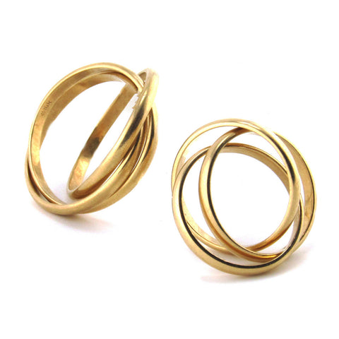 Interlocking 14k Yellow Gold His + Her Set