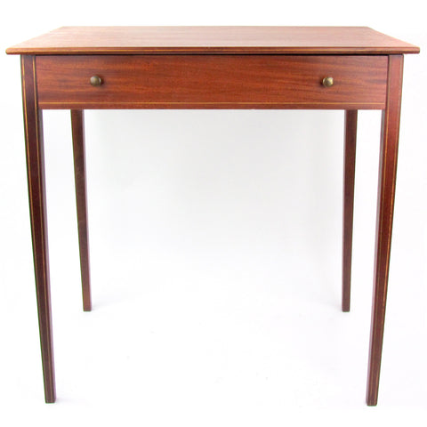 Hepplewhite Style Banded Mahogany Table w/ Drawer