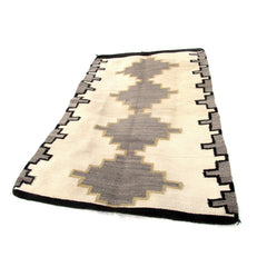 SOLD Navajo Rug with Yellow