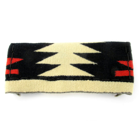 Navajo Clutch from Vintage Weaving, Leather Lined