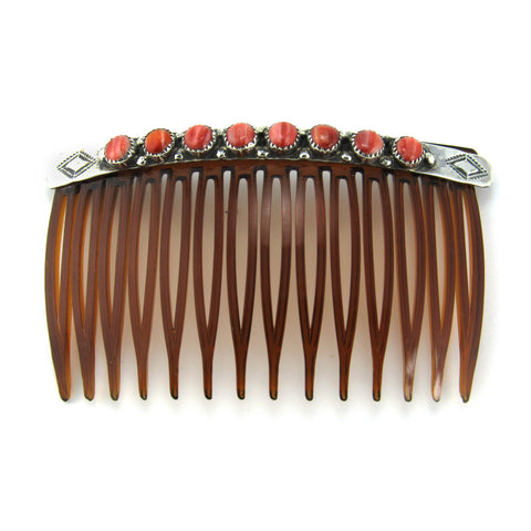 Silver + Spiny Shell Oyster Hair Comb