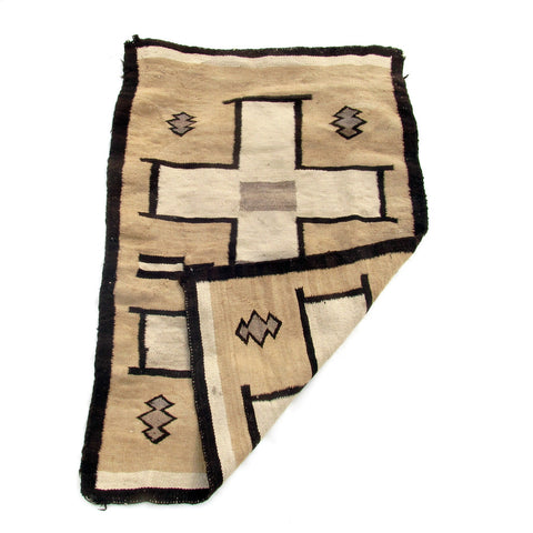 SOLD Two Grey Hills Navajo Saddle Blanket