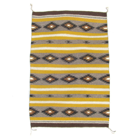 Very Fine Navajo Blanket with Mustard Yellow