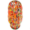 Orange Bohemian Confetti Art Glass Vase