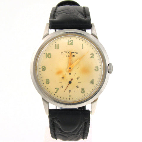 BW Raymond Elgin Railroad Wristwatch w/ Yellow Dial