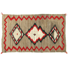 "Antique Navajo Rug 4'9"" x 7'4"""
