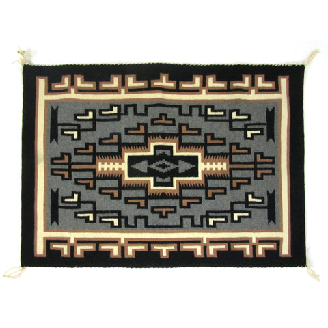 Very Fine Tapestry Quality Two Grey Hills Navajo Rug