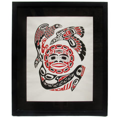 """All One Spirit"" Framed Tresham Gregg Alaskan Silkscreen Print"