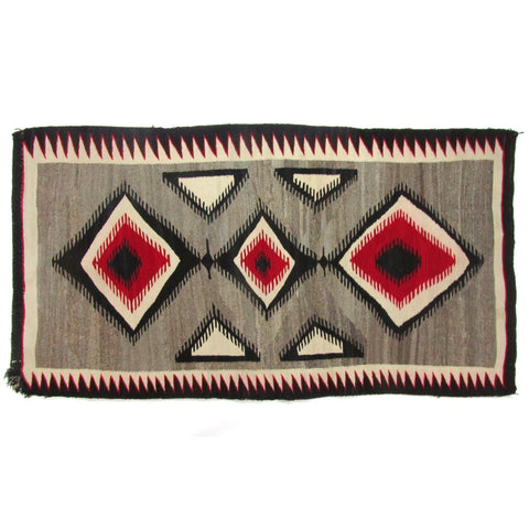 "Crystal Trading Post Antique Navajo Rug 5'4"" x 2'9.5"""