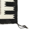 Antique Two Grey Hills Storm Pattern Flat Weave Navajo Rug