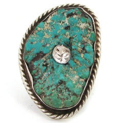 The Woods Diamond-Set Vintage Turquoise Ring