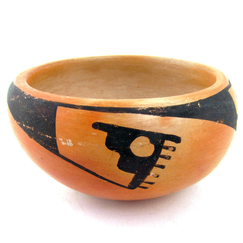 Petit Early Unsigned Hopi Bowl w/ Geometric Decoration