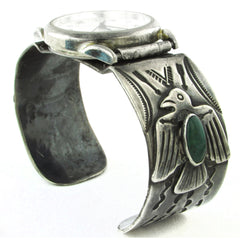 1920s Fred Harvey Eagle Cuff w/ Watch