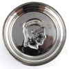 Trojan Silvered Glass Coasters, Set of 6