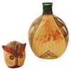 Italian Leather-Wrapped Owl Decanter