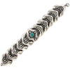 Arts & Crafts Mexican Sterling Bracelet w/ Turquoise Attributed to Matilde Poulat