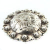 Mexican Sterling Silver Engraved Concho Barrette