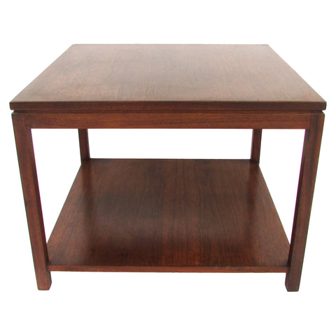 Midcentury Wormley-Style Walnut Side Table