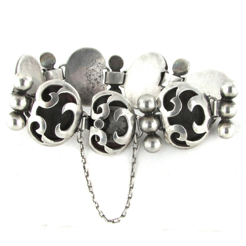 Sterling Silver Victoria of Taxco Angel Bracelet