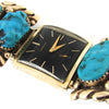 Robert & Bernice Leekya 14k Gold Over Silver Watch Tips w/ 14k Hamilton Black Dial Watch