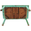 Rustic Mexican Turquoise Painted Coffee Table