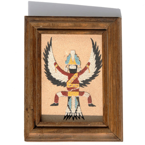 SOLD Small Sand Painting- Zuni Knifewing Yei